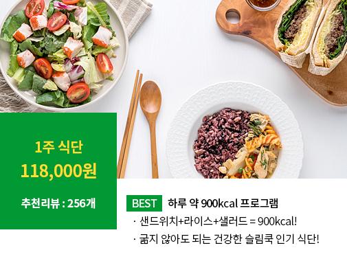 [인기식단 1] 하루 900Kcal 다이어트 프로그램